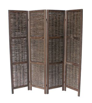 4 Pannel Room Divider / Shoji Screen, Brown for Sale in Fountain Valley, CA