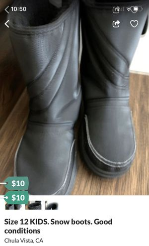 Size 12! Snow boots for kids! for Sale in Chula Vista, CA