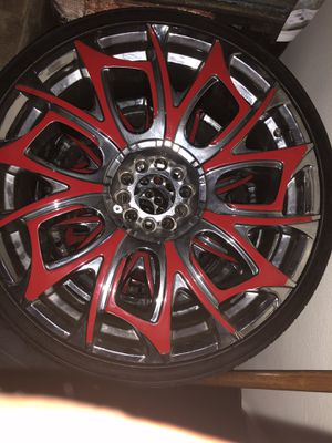"4th of July sale customized 20"" rims and tires , universal lug pattern for Sale in Jacksonville, FL"