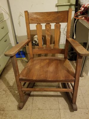 Mission Oak, Antique solid wood Rocking chair for Sale in Oakland, CA