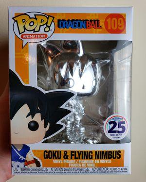 Dragon Ball Funko Pop - Young Goku on Nimbus Cloud (Silver- Chrome) for Sale in Miami, FL