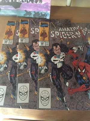 3 spider man and punisher comics for Sale in Riverside, CA