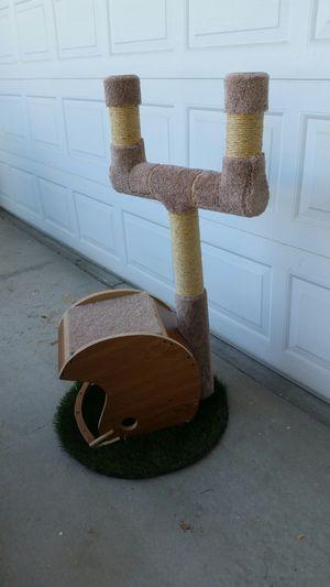 Football helmet cat tree for Sale in GLMN HOT SPGS, CA