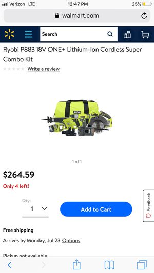Ryobi 18v power tools set for Sale in Vandergrift, PA