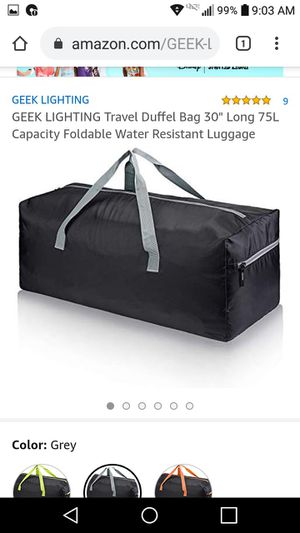 "New! Foldable 30"" duffle bag-water resistant for Sale in Greenacres, FL"