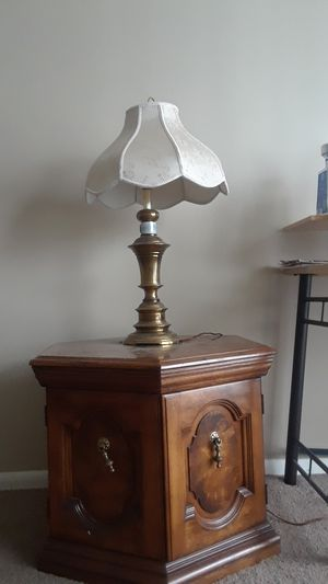 Wooden Cabinet and Lamp shade for Sale in Columbus, OH