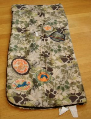 SLEEPING BAG Camping Tiger Safari Camo w/ Carrying Backpack YOUTH BOY for Sale in Macomb, MI