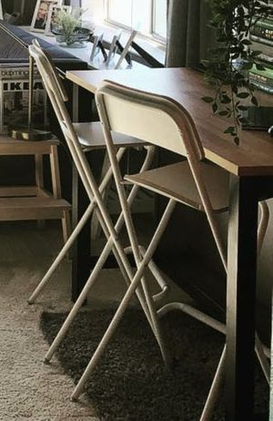IKEA white bar stools - $20 for both - MUST sell TODAY for Sale in San Francisco, CA