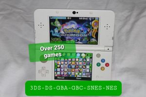 Modded Nintendo New 3DS Super Mario 3D Land Limited Edition With Over 250 + Games for Sale in Chico, CA
