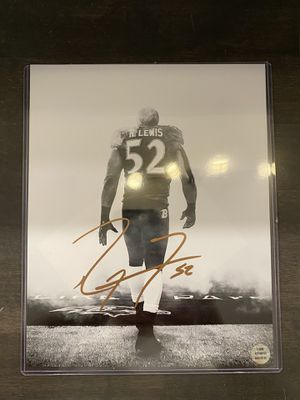 Ray Lewis signed 8x10 with COA for Sale in Normal, IL