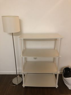 White Shelving Unit With Lamp Post for Sale in Alexandria,  VA