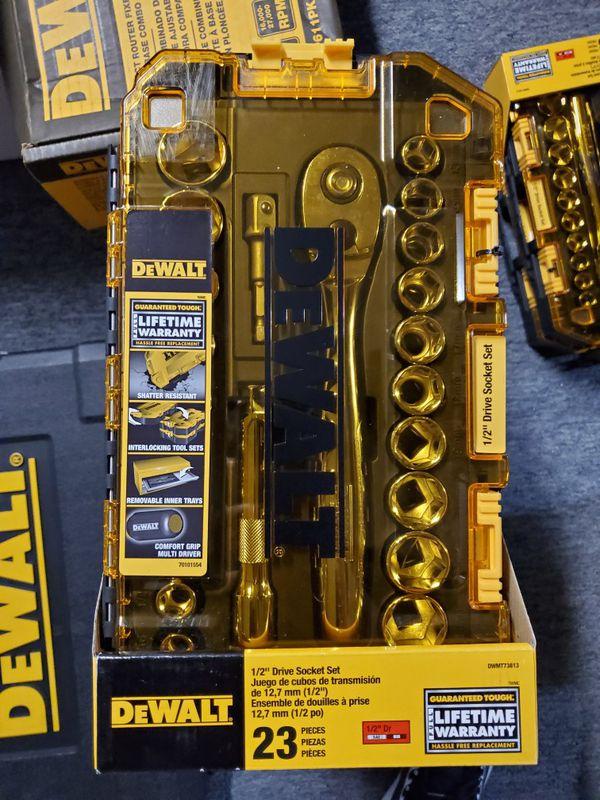 DeWalt DWMT73813, 1/2 inch, 23 Piece Drive Socket Set