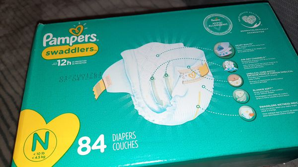 Pampers Swaddlers - size Newborn, qty. #84