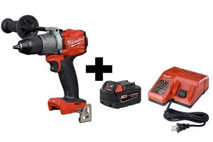 Milwaukee M18 FUEL 18-Volt Lithium-Ion Brushless Cordless 1/2 in. Hammer Drill/Driver with one 5.0 Ah Battery and Charger for Sale in Bloomington, MN