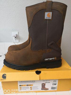Brand new carhartt steel toe work boots size 13 for Sale in Riverside, CA