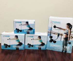 Brand new Dumbbells dumbbell mancuernas for gym weights pesas exercise ejercicio for Sale in Miami, FL