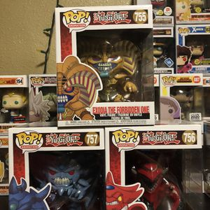 "Yu-Gi-Oh! Obelisk, Exodia And Slifer 6"" Funko Pops for Sale in Compton, CA"