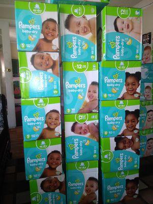 Pampers baby Dry diferentes sizes $ 40 por caja oh cambio por formula Enfamil 12 oz for Sale in Los Angeles, CA