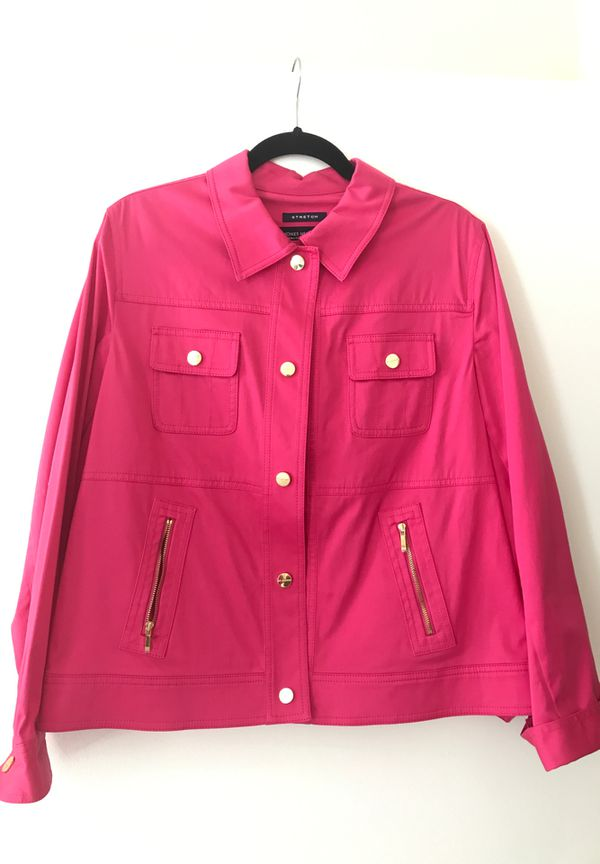 New Jones New York XL Hot Pink/ Fuschia Jacket