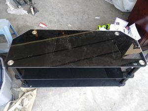 Black tinted tv stand for Sale in Hayward, CA