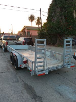 16FT HEAVY DUTY TANDEM AXLES TRAILER for Sale in Los Angeles, CA