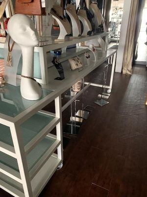 Metal table with glass shelve for Sale in Arlington, TX
