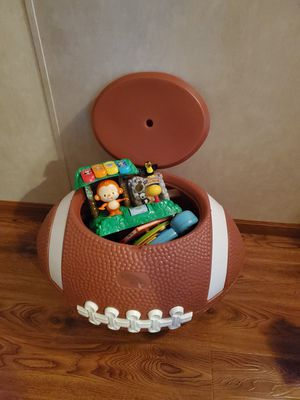 Football TOY box full of toys for Sale in Fulton, IL