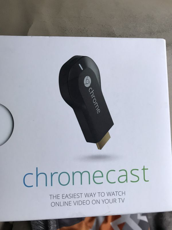 Chromecast empty box with wall charger