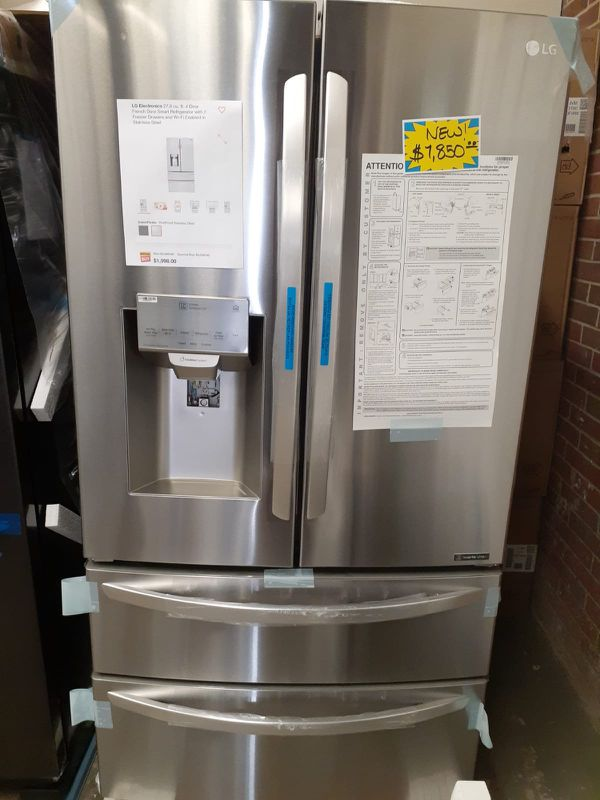 Brand new LG 4-doors smart french doors refrigerator with 2 freezer drawers & wi-fi enabled