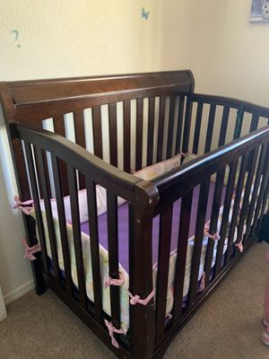 Crib frame and diaper changing table for Sale in Denver, CO