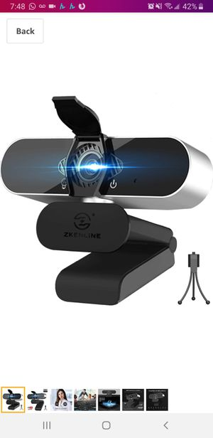 New in sealed box, HD 2K Webcam with Microphone for Desktop Laptop, External USB 3.0 Computer Camera, 60FPS Web Camera for Streaming for Sale in Tustin, CA