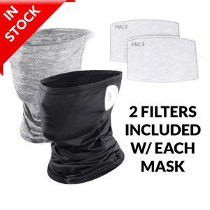 Face mask bandana tube neck gaiter shield filter pocket ear loops for Sale in Orange, CA