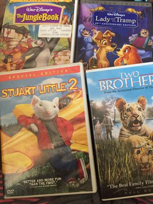 DVD: The Jungle book, lady and the tramp platinum edition, Two brothers, Frozen, Stuart little 2 (all for $10 firm on price) for Sale in Phoenix, AZ