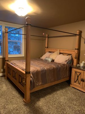 Marble top California King bedroom set, 5 pieces for Sale in Tigard, OR