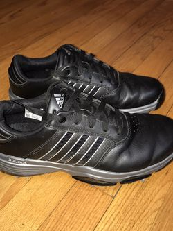 Adidas Mens 360 Bounce F33681 Black Soft Spikes Golf Shoes Size 8 Gently used for Sale in French Creek,  WV