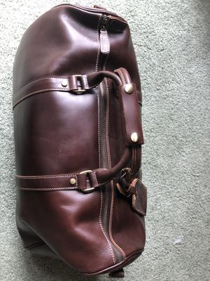 Dark brown leather duffle for Sale in Upland, CA