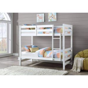 WHITE FINISH TWIN SIZE BUNK BED / CAMA LITERA BLANCA for Sale in Riverside, CA