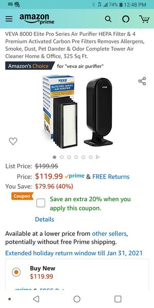 Veva air purifier for Sale in Los Angeles, CA