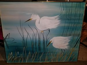 Lee Reynolds canvas oil painting for Sale in East Wenatchee, WA