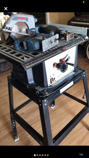 Table Saw & Bosch Set ( 4 items) for Sale in Cypress, CA