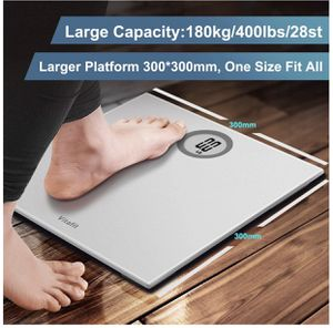 Vitafit Digital Body Weight Bathroom Scale Weighing Scale with Step-On Technology, LCD Display(400lb),Batteries Included, Elegant Silver for Sale in Staten Island, NY