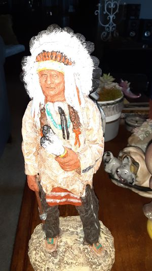 Vintage Sioux Chief Native American Statue Figurine Collectible for Sale in Glendale, AZ