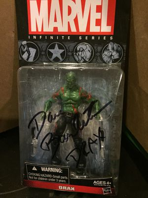 Drax- signed action figure- Dave Bautista for Sale in Tampa, FL