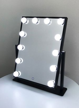 """(New in box) $70 each Vanity Mirror 12 Dimmable Light Bulbs Hollywood Beauty Makeup, 16""""x12"""" for Sale in Whittier, CA"""
