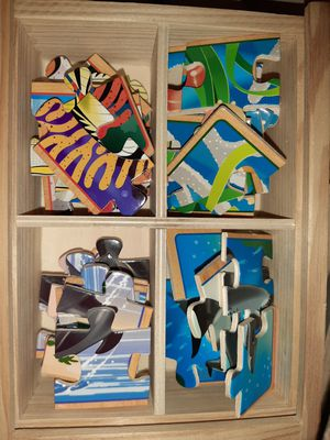 Wood puzzles for kids for Sale in Schaumburg, IL