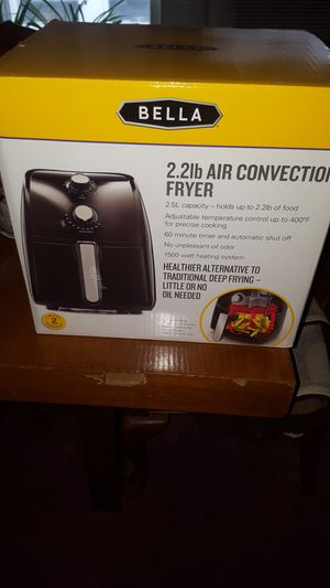 Bella 2.2lb Air Convection Fryer Kitchen Appliance New Box for Sale in Philadelphia, PA