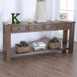 Rustic walnut console table for Sale in Las Vegas, NV