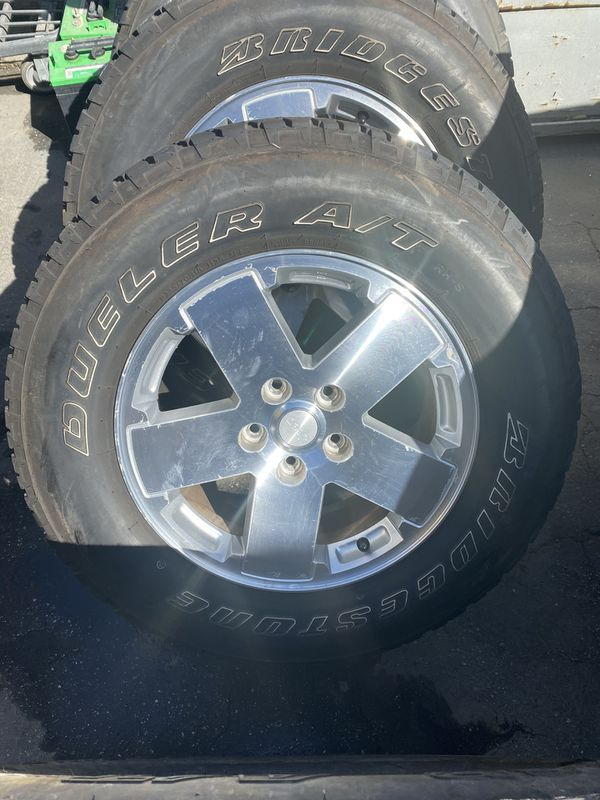 """Jeep Wrangler 18"""" wheels and tires"""
