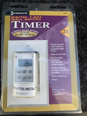 Digital Wall Switch Timer for Sale in Brea, CA