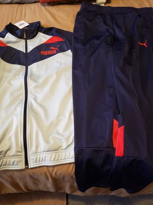 Puma Track Suit - light blue, navy blue and red for Sale in Cleveland, OH